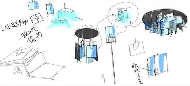 台灯创意设计草图