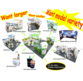 Portable Customized Exhibition Stand (reusable and reconfiguration)